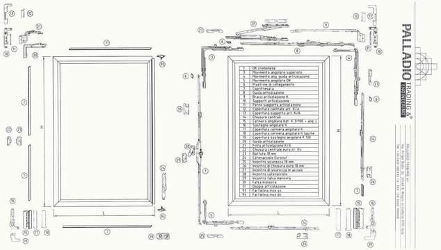 Schema montaggio anta ribalta giesse - Meccanismo cremonese finestra ...