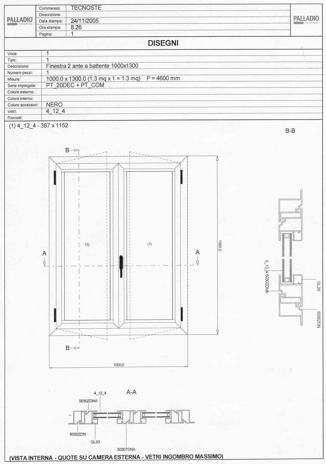Palladio dettagli tecnici - Finestre scorrevoli dwg ...